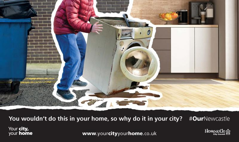 Your City Your Home Anti-Fly tipping poster