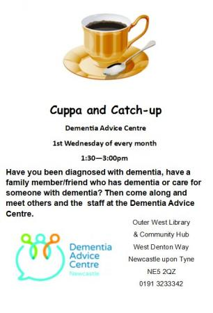 Cuppa and catch-up flyer