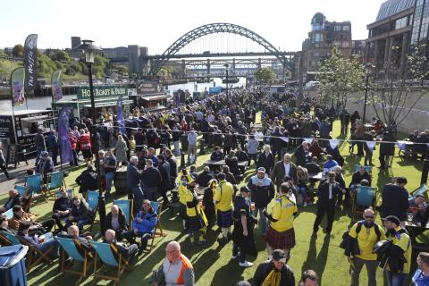 Pictures from the Fan Village on Newcastle Quayside