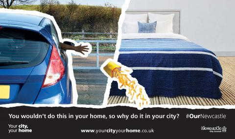 You wouldn't litter in your home so why do it in your city?