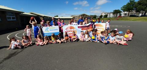 45 children attended the launch of Newcastle's Best Summer Ever at Blakelaw