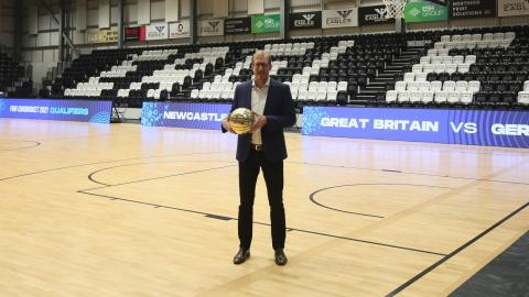 Newcastle Eagles managing director Paul Blake