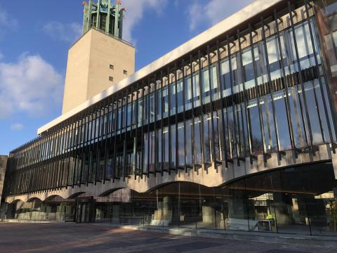 Photograph showing the Civic Centre in Newcastle.