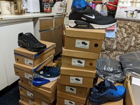 A selection of the counterfeit items seized by Trading Standards officers