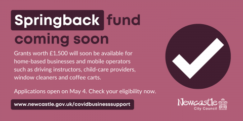 New Springback grant is launching on 4 May