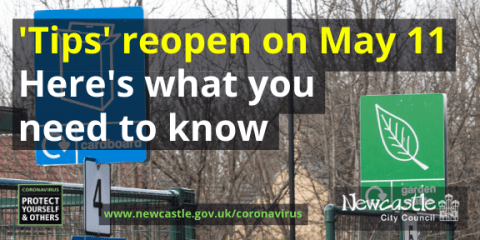 An image of Walbottle HWRC with the text Tips to reopen on May 11 Here's what you need to know