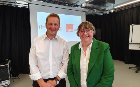 Jon Sparkes, CE Crisis, and Cllr Joyce McCarty, deputy leader Newcastle City Council
