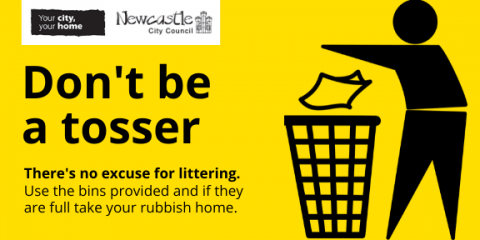 Litter enforcement warning