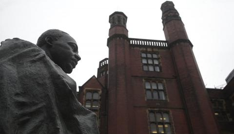 A statue of Dr Martin Luther King Jnr at Newcastle University