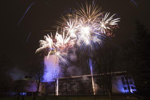Newcastle's New Year's Eve family fireworks at the Civic Centre