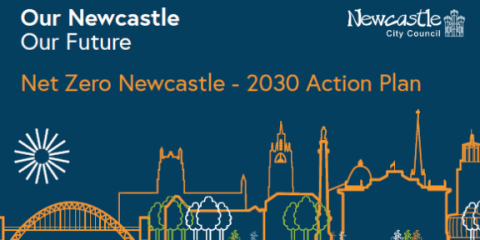The front cover of the Net Zero Newcastle: 2030 Action Plan