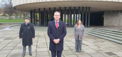 Councillor Nick Cott, Councillor Nick Forbes and Councillor Clare Penny-Evans