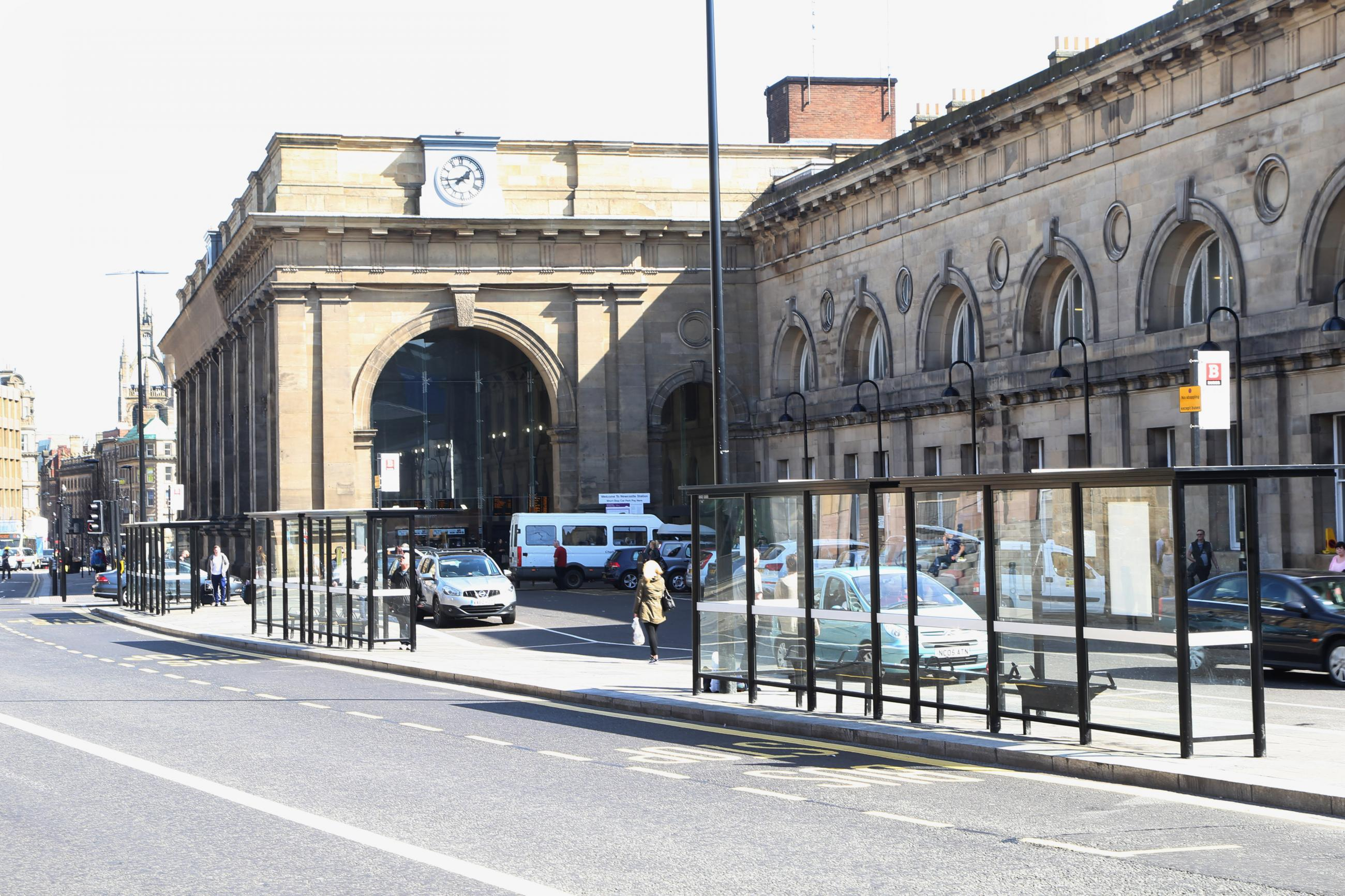 Photo showing the front of central station
