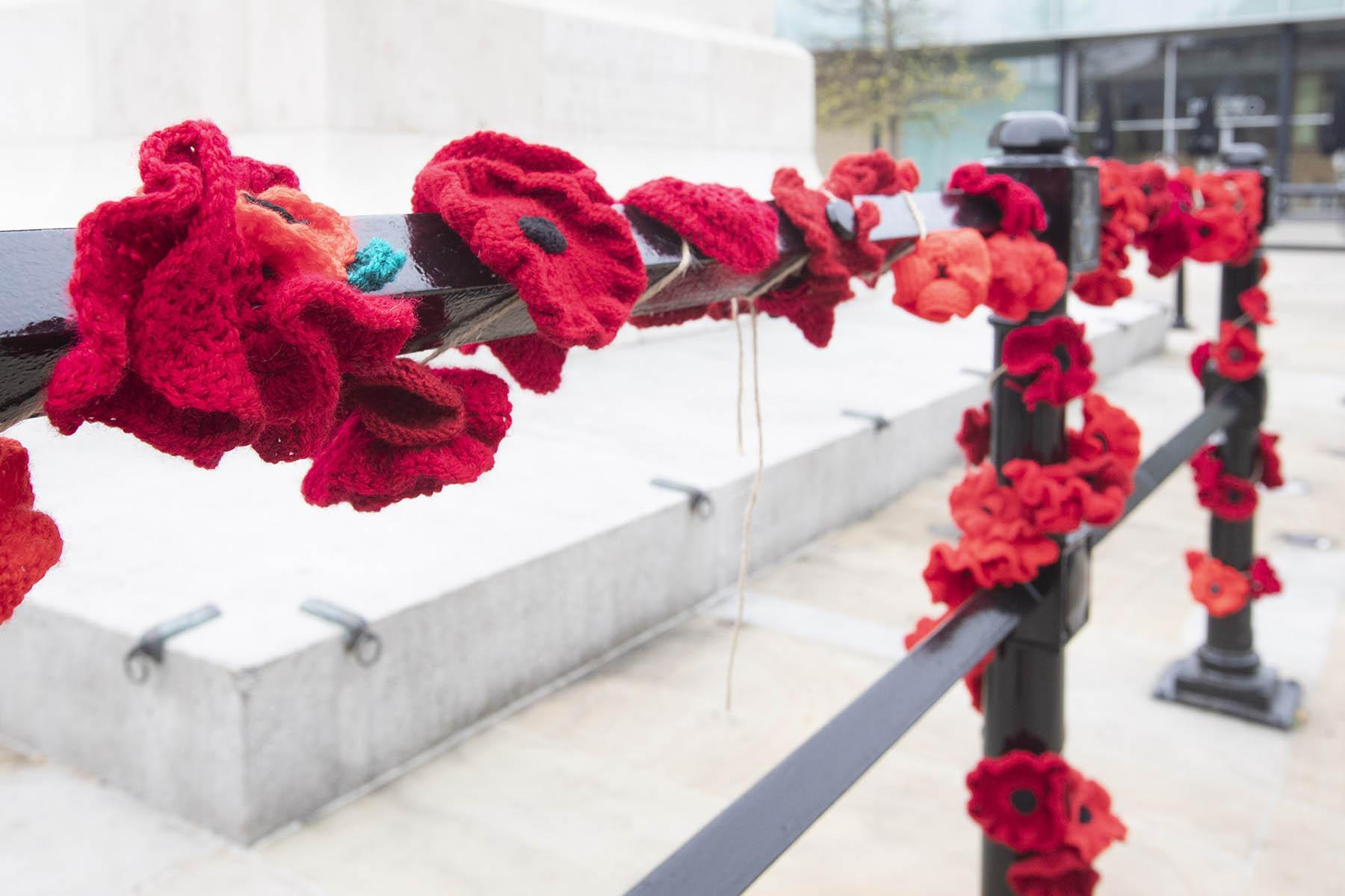 Last year's poppy display at Old Eldon Square.