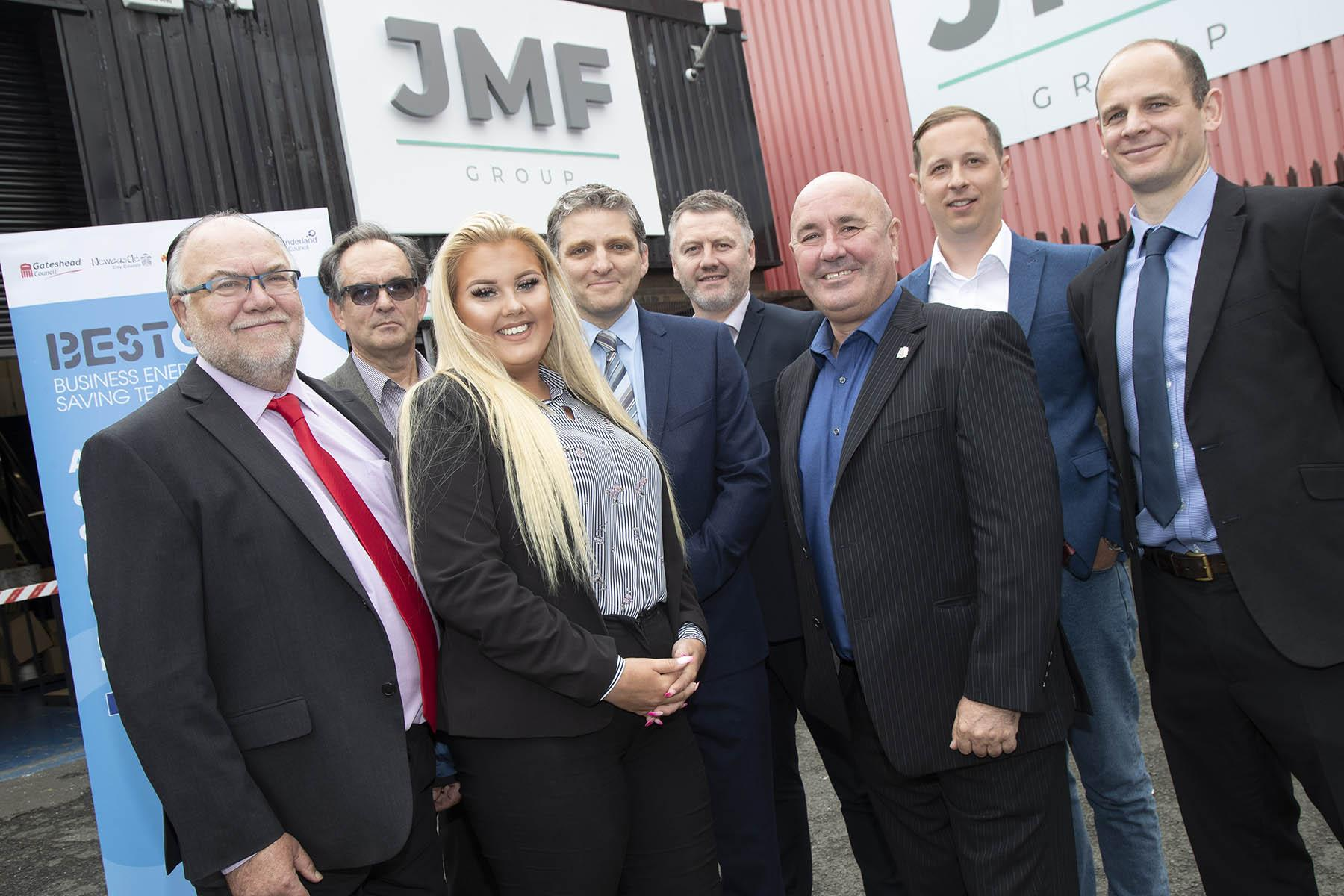 Newcastle and Gateshead councillors with JMF Group.