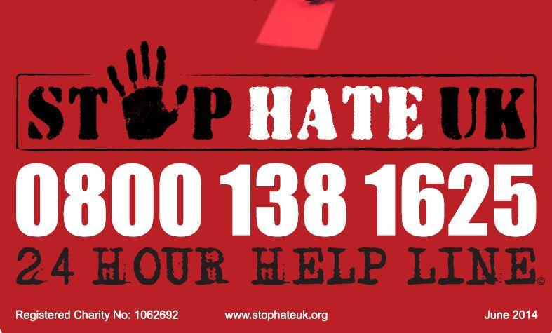 Stop Hate UK free phone number
