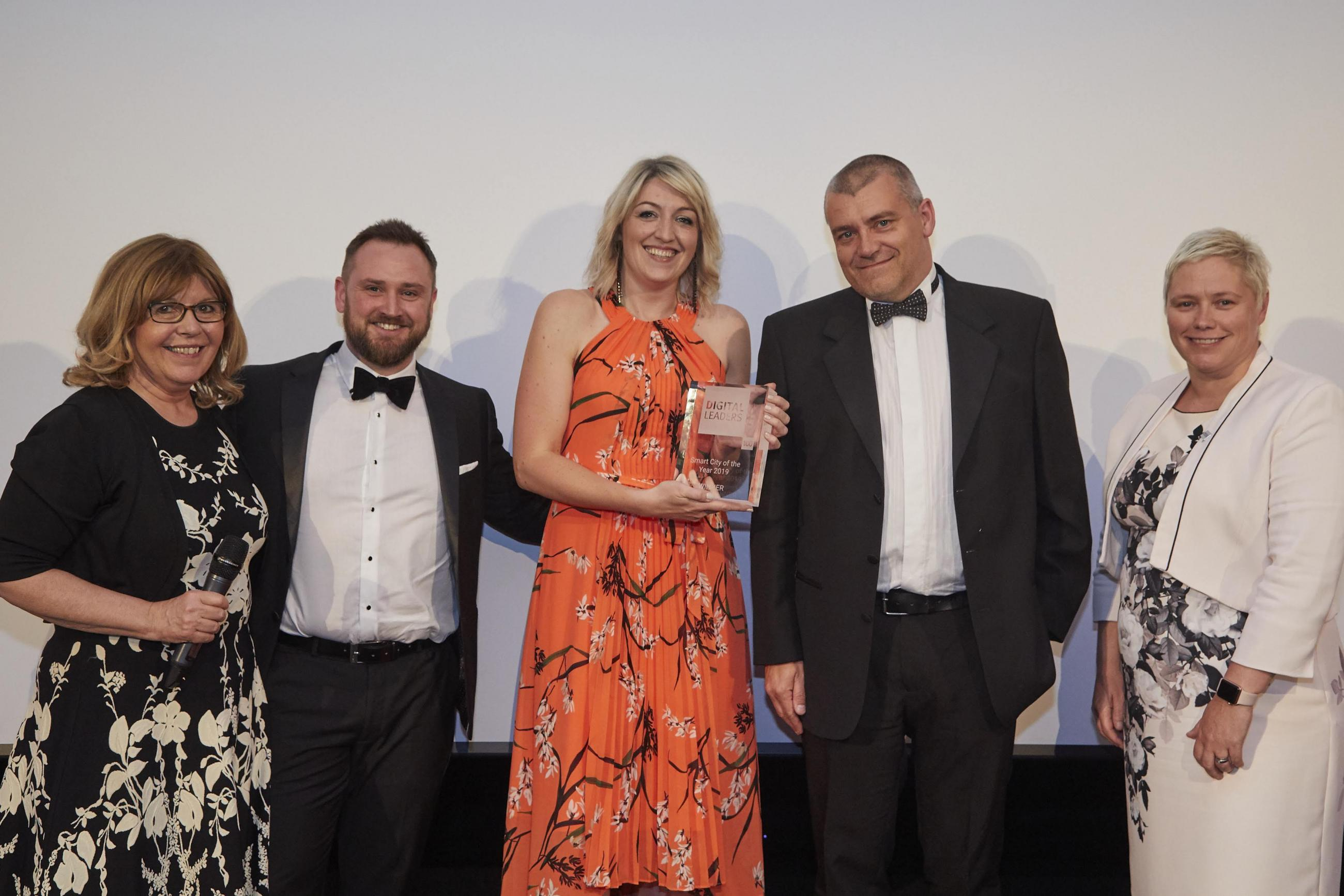 Newcastle won Smart City of the Year at the Digital Leaders Awards.