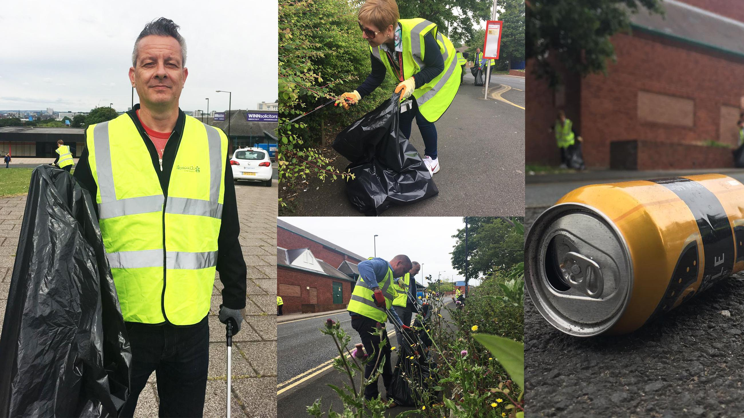 Your city, your home litter-pick on Shields Road
