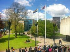 LGBT flag at Newcastle Civic Centre