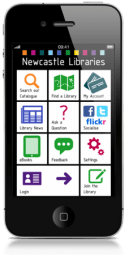 Image of mobile phone screen with library app open