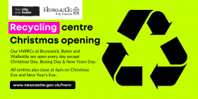 Recycling centre Christmas opening