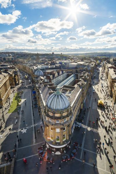 The view from the top of Grey's monument