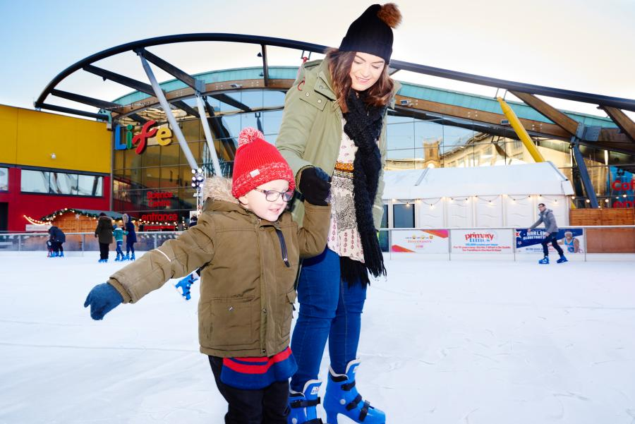 Ice rink at the Life Science Centre