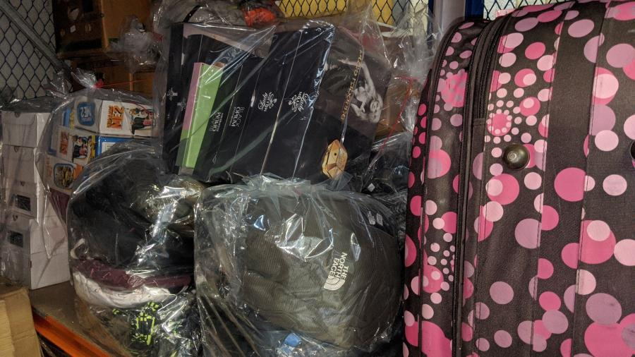 Suspected fake goods seized as part of the joint trading standards and police raids