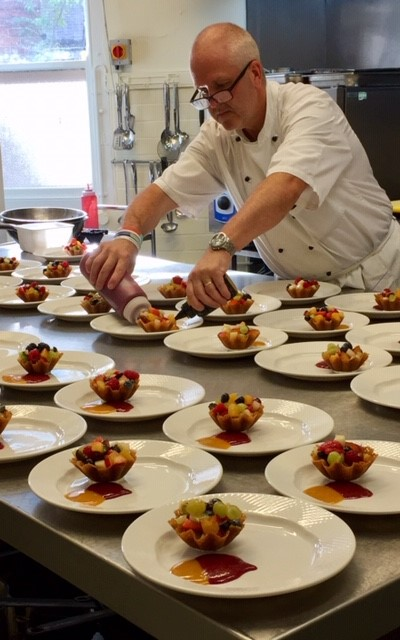Head Chef Julian and just some of the wonderful desserts