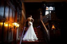 Mansion House Staircase, Photograph by www.kirstyjransonphotography.co.uk, wedding dress by www.mybigdayuk.co.uk