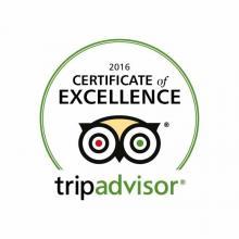 Trip Advisor Certificate of Excelence 2016
