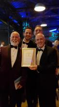 2017 Sucess at the North East Tourism Awards .. award received by Chef Julian, Neil, Tony and James