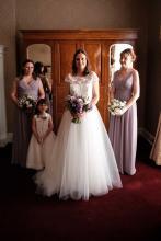 Sarah looking stunning with her bridesmaids