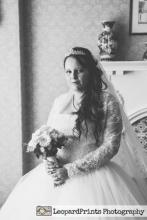 Sophie looking beautiful just before she walked down the stairs to marry Curtis